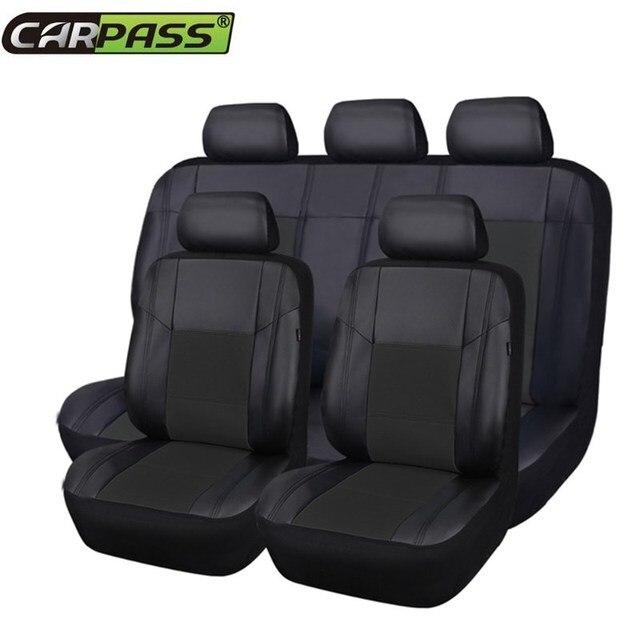 volledige set pu lederen auto bekleding universele rood auto stoelbekleding auto interieur seat protector autostoel