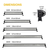 LED Light Bar Off Road 300W 288W 240W 180W 120W 52inch 50inch 42inch 22inch 6000K White