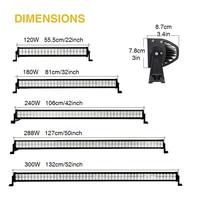 LED Light Bar Off Road 300W 288W 240W 180W 120W 52inch 50inch 42inch 22inch 6000K White