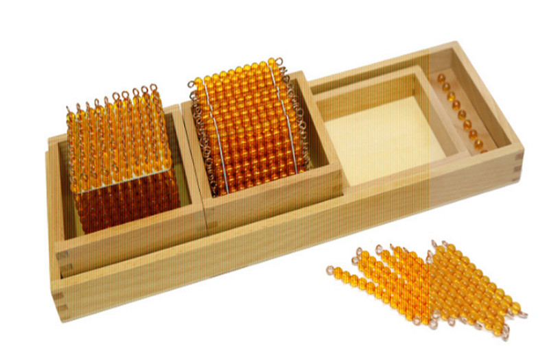 New Wooden Baby Toys Montessori Mathematics teaching aids cubic beads decimal Demo Kit Baby Educational Toys Baby Gifts