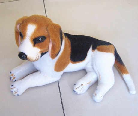 ตุ๊กตาสัตว์30เซนติเมตรคว่ำสุนัขบีเกิ้ลตุ๊กตาของเล่นตุ๊กตาของที่ระลึกที่มีคุณภาพสูงในปัจจุบันw1177