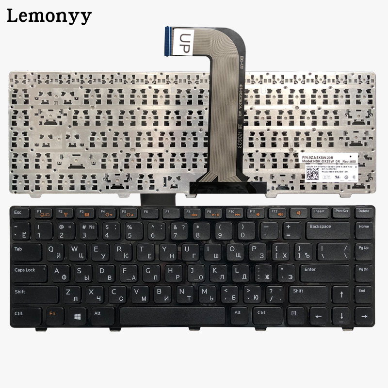 Russian laptop keyboard for DELL Inspiron 14R N4110 M4110 N4050 M4040 N5050 M5050 M5040 N5040 3330 X501LX502L P17S P18 N4120 RURussian laptop keyboard for DELL Inspiron 14R N4110 M4110 N4050 M4040 N5050 M5050 M5040 N5040 3330 X501LX502L P17S P18 N4120 RU