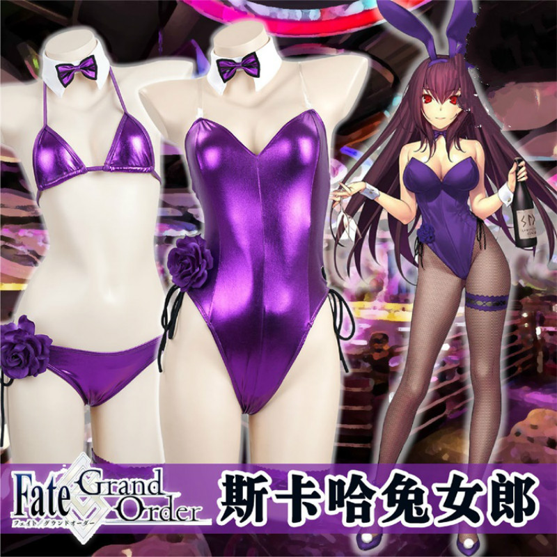 Cos Fate/Grand Order Servant Scathach FGO Lancer Fun lingerie rabbit girl Bunny Girl Cosplay Costume