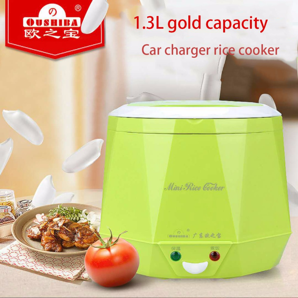 Electric Rice Cooker 12V 24V 220V 1.3L Car Rice Cooker Mini Rice Lunch Box Suited For 2-3 People Smart Cooker 3 layers portable electric lunch box for 1 2 people office home multi cooker mini rice cooker reheat