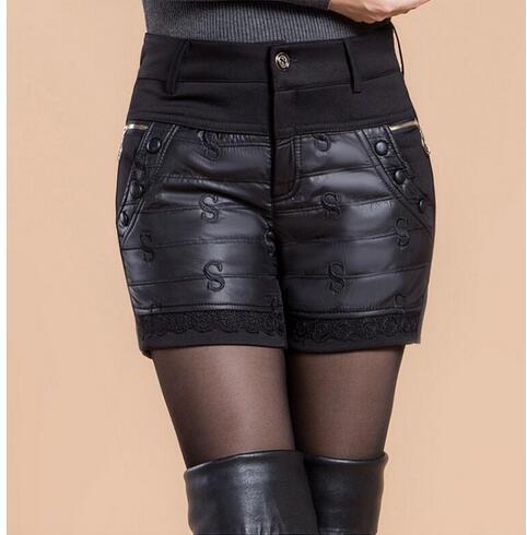 Very High Quality Women Winter Shorts Thicken 2019 Autumn Winter Sexy High Waist Black Shorts Plus Size 5XL Short Trousers Women