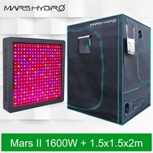 Mars Hydro Full Spectrum MarsII 1600 LED Grow Light+ 59''x59''x80''(150x150x200cm) Grow Tent Grow Hut
