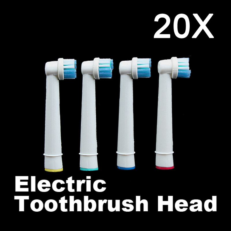 New Fashion 20Pcs Tooth Brushes Head B Electric Toothbrush Replacement Heads For Oral Vitality Hygiene  H7JP 2pcs philips sonicare replacement e series electric toothbrush head with cap