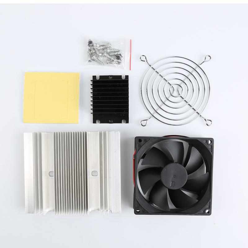 Semiconductor Chilling Plate Cooling fan Kit TEC1-12706 Thermoelectric Peltier Cooler Refrigeration Cooling System thermoelectric peltier 60w cooler refrigeration semiconductor cooling system kit cooler fan finished set for computer cpu hot