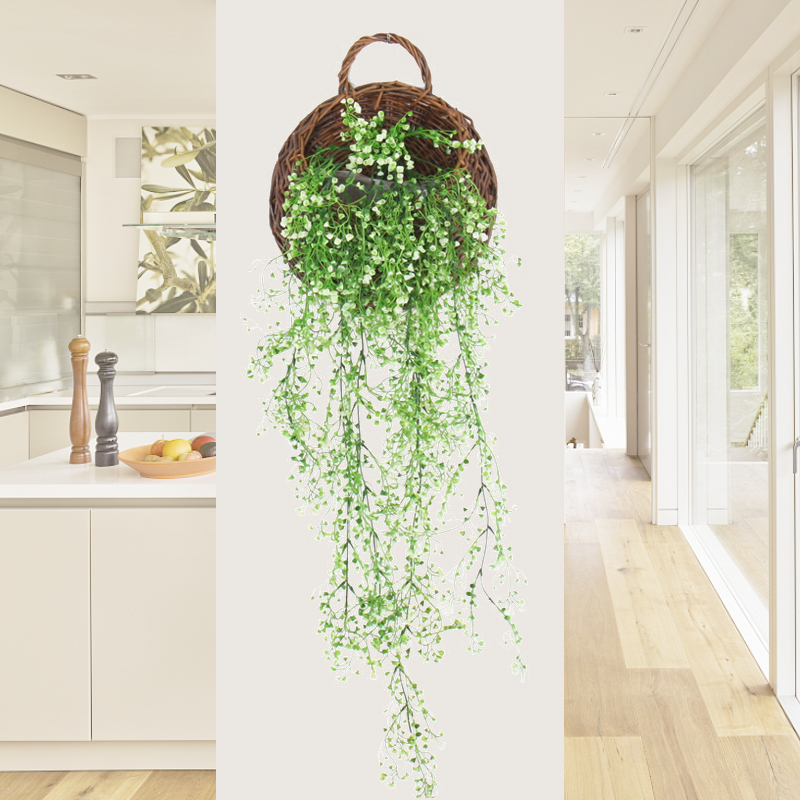 United 90cm Artificial Water Willow Grass Rattan Bouquet Plastic Hanging Plant Garland Decoration For Home Wedding Wall Festival Artificial & Dried Flowers