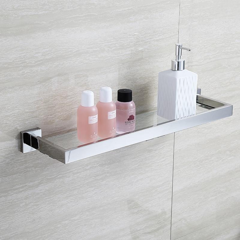 BLHTZ05 Glass Bathroom Shelves Shampoo Holder Stainless