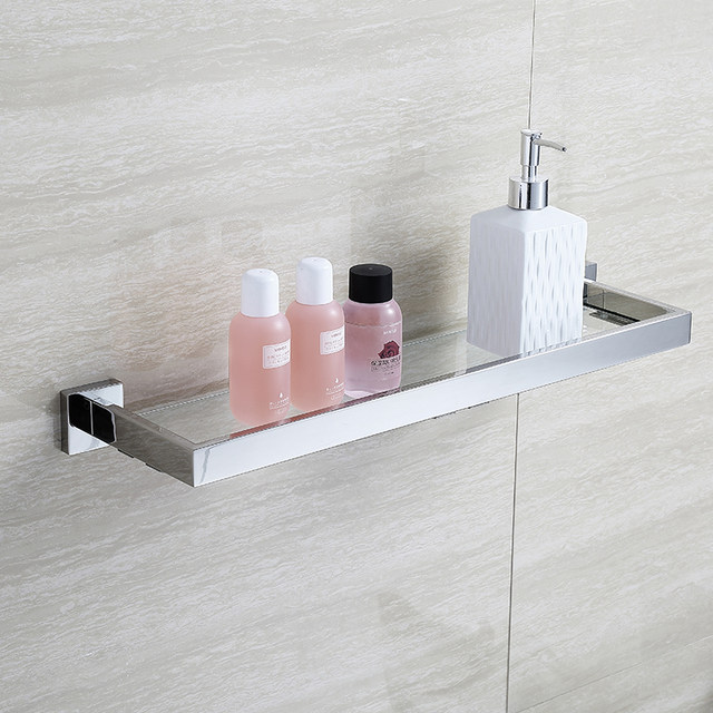 Online Shop BLHTZ05 Glass Bathroom Shelves Shampoo Holder Stainless ...