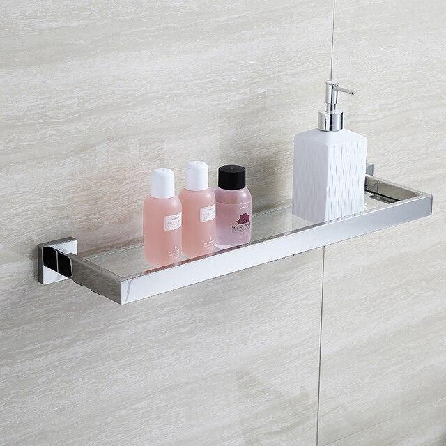 BLHTZ05 Vetro Mensole Bagno Shampoo Holder In Acciaio Inox Mensola ...