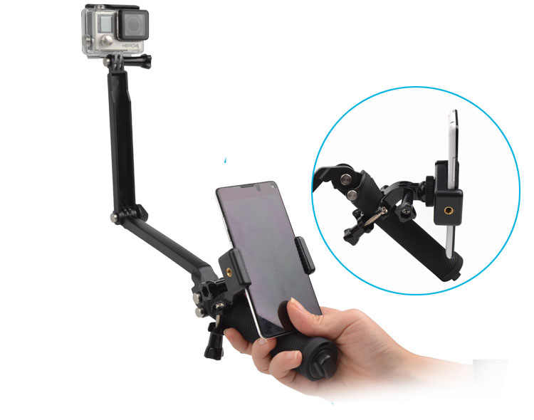 自己 selfie スティック調整可能な携帯電話移動プロヒーロー 8 5 6 7 4 3 + xiaomi 李 SJ4000 SJ5000 SJ6000 sjcam アクセサリー