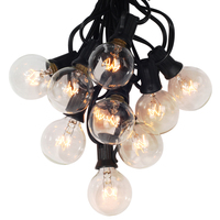 25Ft G40 Globe String Lights With Clear Bulbs UL Listed Backyard Patio Lights Hanging Indoor Outdoor