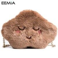 EEMIA Phone Bag Cases For Xiaomi Redmi Note 4X Case Soft Rabbit Hair Chain Purse Case