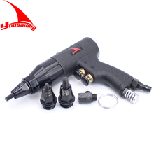 M4/M5/M6M8/M10/M12 Pneumatic Riveters Pneumatic Pull Setter Air Rivets Nut Gun Tool Only for Aluminum and Iron Rivet Nuts