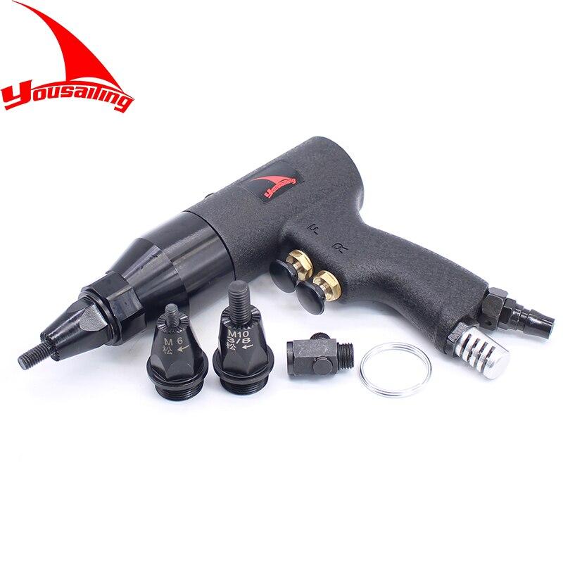 M4/M5/M6M8/M10/M12 Riveters Pneumáticos Pneumática Setter Puxar o Ar Rebites Porca Ferramenta Arma Só para Porcas do Rebite de Alumínio e Ferro