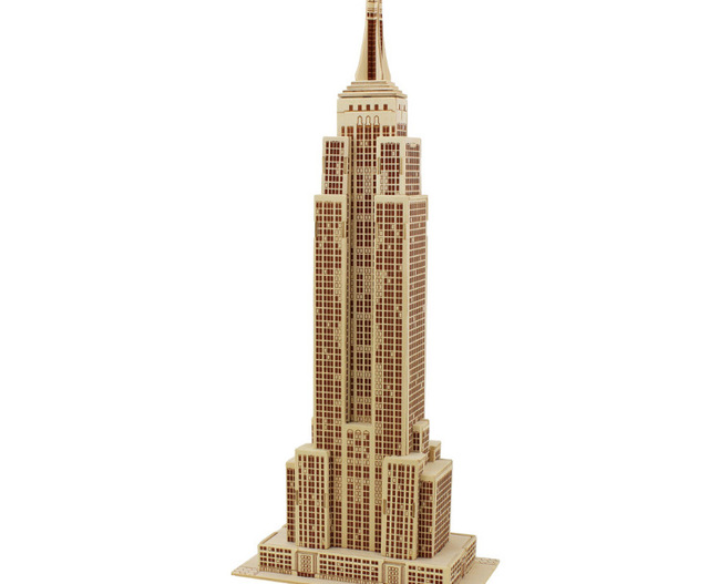 DIY Toys 3d Three Dimensional Empire State Building Wood Puzzle Toy For  Kids Model Building