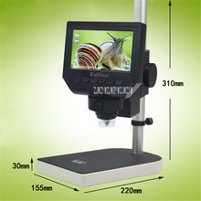 Discount! New Arrival 220V Mobile Maintenance Microscope Digital Microscope Electron Microscope HD 600x Screen Industrial Microscope Hot