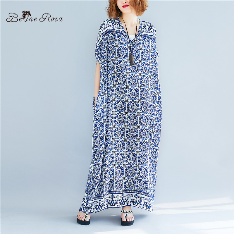 BelineRosa Thailand Beach Style Maxi Dress Super Comfort House Wear Holiday  Casual Style Plus Size Long Dress DBFS0015