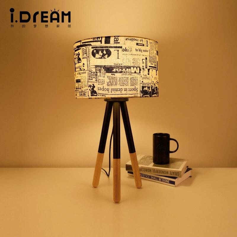 Настольная лампа деревянная настольная лампа гладить Морден американский складной E27 110 В 220 В клип офис лампы для исследование