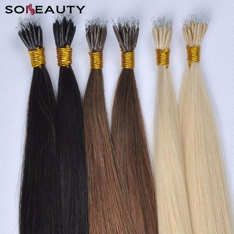 Europäischen Micro Haar 50 Teile/paket Nano Ring Haar 100% Remy Menschenhaar Extensions Keratin Fusion Haar Extensions Direktverkaufspreis