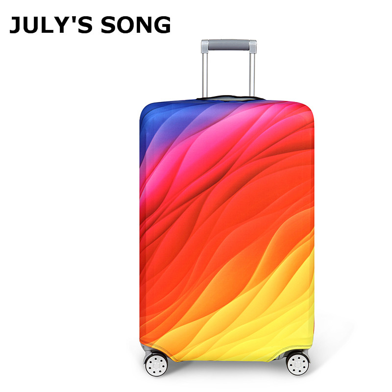 Fashion Rainbow Suitcase Cover Travel Luggage Covers Trolley Suitcase Protective Covers Capa Protetora Para Mala 18-32''Cover