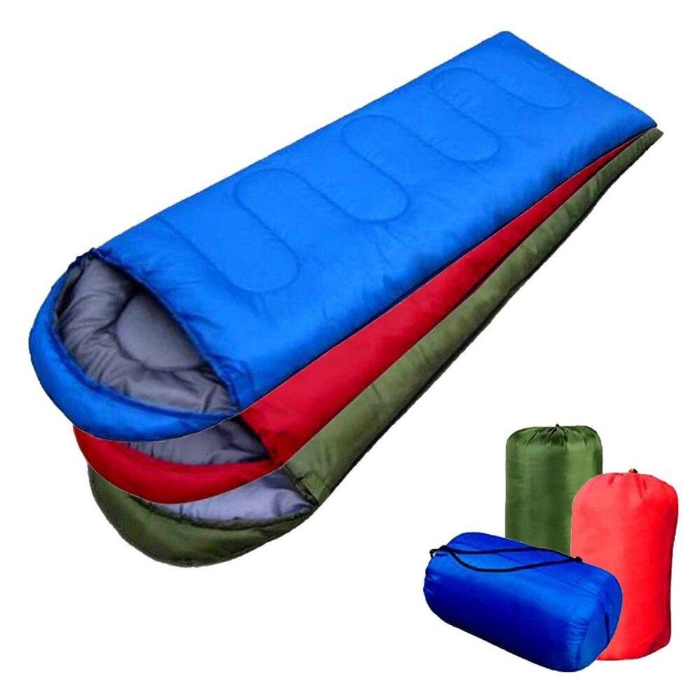 Adult Sleeping Bag Thermal Autumn Winter Envelope Hooded Outdoor Travel Camping Water Resistant Thick Sleeping Bag термозащита macadamia лосьон для укладки blow dry lotion объем 198 мл