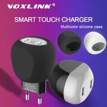 VOXLINK USB cargador 5V 2.4A táctil inteligente cargador para iPhone iPad Samsung Galaxy s9 s10 Galaxy HTC Xiaomi LG Huawei Nexus