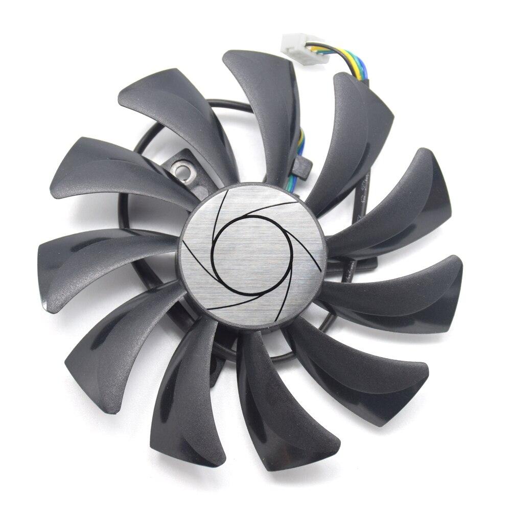 85mm 4pin HA9010H12SF-Z RX460 4GB Cooler Fan Replace For MSI Inno3D P106 960 GeForce GTX 1060 AERO ITX 3G 6G OC RX560 RX550 ITX