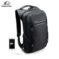 Kingsons Brand Antitheft Notebook Backpack 15 6 Inch Waterproof Laptop Backpack For Men Women External USB