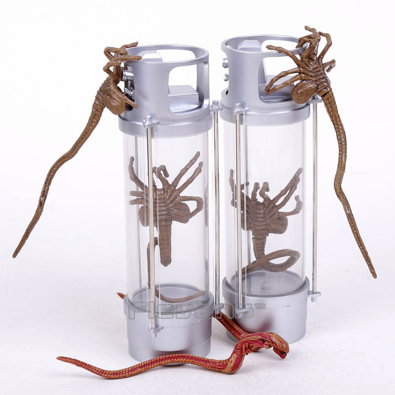 NECA Alien 2 Creature Pack Stasis Chanber LED Light 7 PVC Action Figure Collectible Model Toy 2pcs/set neca alien lambert compression suit aliens defiance xenomorph warrior alien pvc action figure collectible model toy 18cm