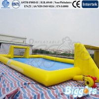 PVC Material Inflatable Football Field Outdoor Toys Kids Game Commercial Grade