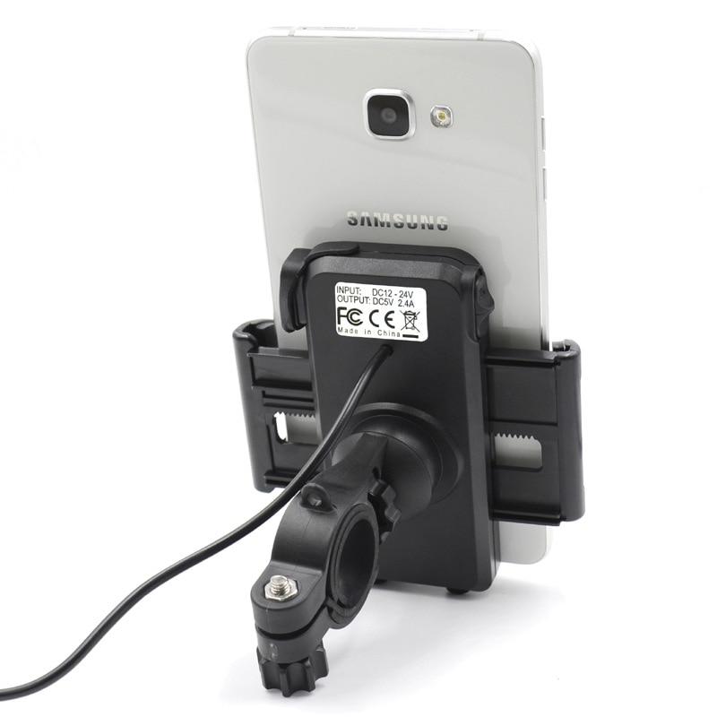 Black EBike Handlebar 5V USB Quick Charger Adapter Converter 36V 48V 72V 100V