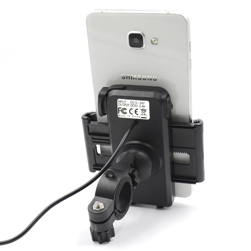 Motorcycle USB Charger With Mobile Support Input 12V-24V Out