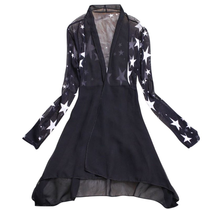 d1a16a4316d Detail Feedback Questions about EFINNY Long Chiffon Ladies Shirts 2018  Summer Women s Kimono Cardigan Blusa Sunscreen Female Blouses Jackets on ...
