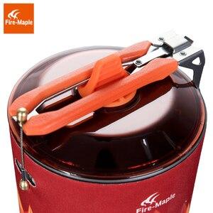 Image 5 - Yangın akçaağaç kamp gaz brülör açık sırt çantasıyla pişirme sistemi 2200W 0.8L 600g piezo ateşleme ile gaz sobası FMS X3