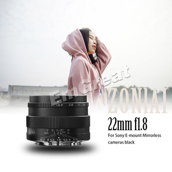 Zonlai 22mm F1 8 Manual Prime Lens for Sony E-mount
