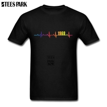 9fa116256 50th Birthday Gift 1968 Heartbeat Cool T Shirts Men Short Sleeve Fathers  Day T Shirt Newest