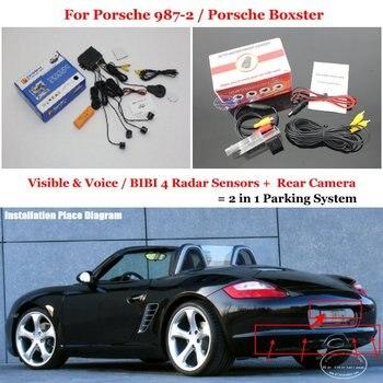 Car Parking Sensors For Porsche 987-2 / Porsche Boxster 2009~2010 Car Rearview Sensor Reverse Camera Auto Alarm System