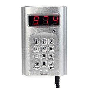 Image 3 - 1 個キーボードトランスミッタ + 4 個の時計受信機ページャワイヤレスコースター呼び出しシステムホテルウェイターレストランシステム