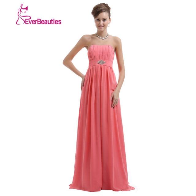 Vestidos de madrina de boda color coral