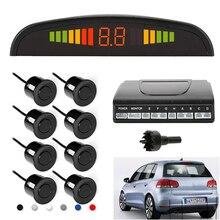 Lesoleil Car Parking Sensor Kit Auto Car LED Display 8 Sensors For Car Reverse Assistance Backup Radar Monitor Parking System