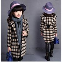 Winter Fashion Girls Jackets Coats Plaids Hoodie Girl Jacket Coat Children Clothing Kids Hooded Trench Princess Autumn Outerwear