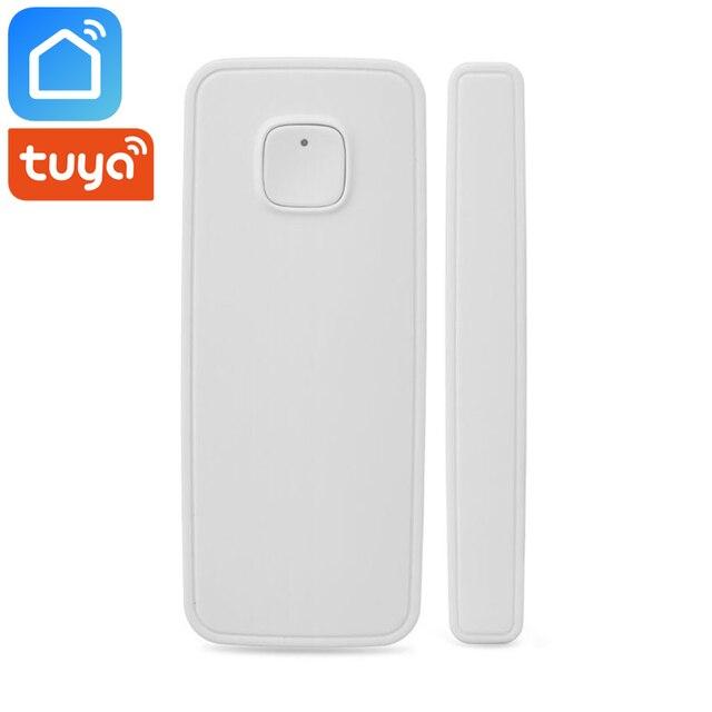 Tuya Smart Life Wifi Smart Door Window Sensor Detector Smart Home Security Works With Alexa Google Home Assistant