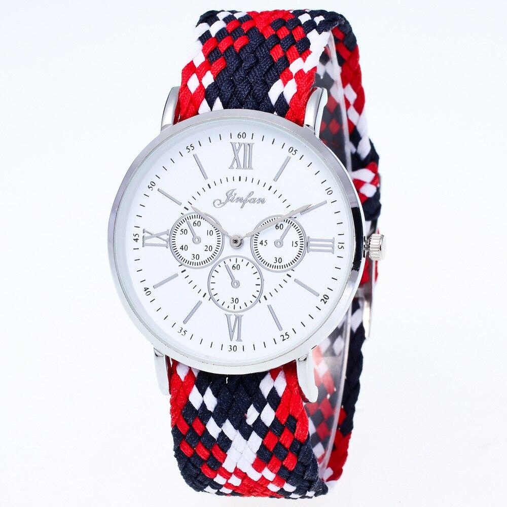 Classic Women Watches Numerals Retro Ladies Watch Lovers Watches Unique Design Nylon Braided Fashion Quartz Watches Bracelet