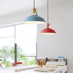 Image 2 - ססגוני צל LED Macarons תליון אורות מודרני מסעדת מנורה עם מתג תליון מנורות מעוות חוט עיצוב בית תאורה
