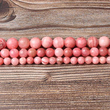 LIngXiang Natural jewelry 6/8/10/12mm pink Rhodochrosite Loose beads DIY Mens and womens bracelets necklaces accessories