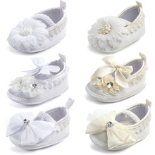New Ivory Baby Infant Shoes Girls Anti-slip Soft Sole Prewal