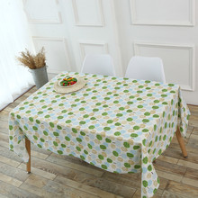 Kiwiberry Round Pattern Tablecloth Cotton Linen Can Wash Prints European Style Dinner Table Cloth Decoration